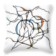 Abstract Pencil Pattern Throw Pillow