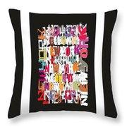 Abstract Wall Design Throw Pillow