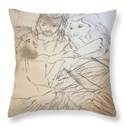 Adam Andeve The Creation Story Throw Pillow
