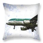 Aer Lingus Airbus A319 Art Throw Pillow