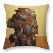 African Mermaid Throw Pillow