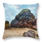 Agglestone Rock - England Throw Pillow