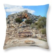 Agioi Saranta Cave Church - Cyprus Throw Pillow