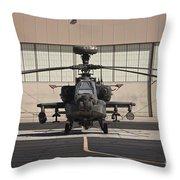 Ah-64d Apache Longbow At Pinal Airpark Throw Pillow