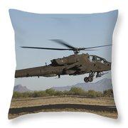 Ah-64d Apache Longbow Lifts Throw Pillow