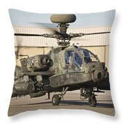 Ah-64d Apache Longbow Taxiing Throw Pillow
