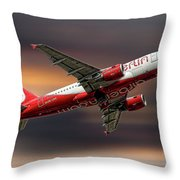 Air Berlin Airbus A319-112 Throw Pillow