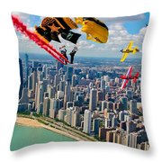 Air-show Throw Pillow