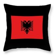 Albania Flag Throw Pillow