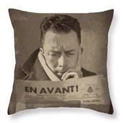 Albert Camus 1 Throw Pillow