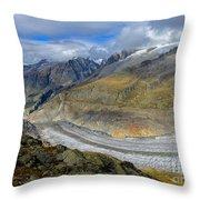 Aletsch Glacier, Switzerland Throw Pillow