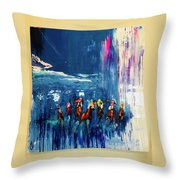 All Out Throw Pillow
