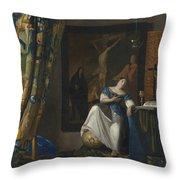 Allegory Of The Catholic Faith Throw Pillow