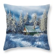 Alpine Hideaway Throw Pillow