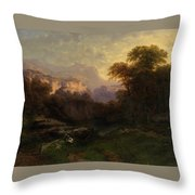 Alpine Landscape Throw Pillow