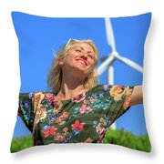 Alternative Energy Concept Throw Pillow