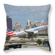 American Airlines Throw Pillow