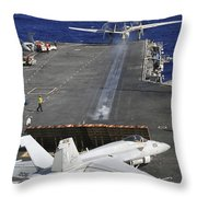 An E-2c Hawkeye Launches Throw Pillow