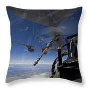 An F-15 Eagle Pulls Into Position Throw Pillow