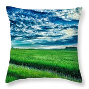 An Iowa Sunset Throw Pillow