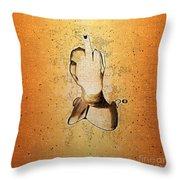 An Obscene Hand Sign Throw Pillow