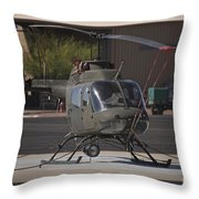 An Oh-58 Kiowa Helicopter Of The U.s Throw Pillow