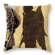 Angel Waiting Throw Pillow