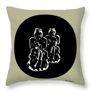 2 Angels Throw Pillow