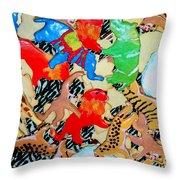 Animal Cookies Throw Pillow