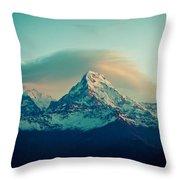 Annapurna South At Sunrise In Himalayas Artmif Photo Raimond Klavins Throw Pillow