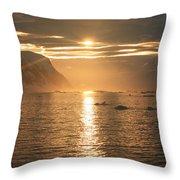 Antarctic Sunset Throw Pillow