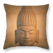 antique oil effect Buddha Burmese.. Throw Pillow