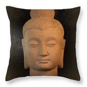 antique oil effect Buddha Gandhara.. Throw Pillow