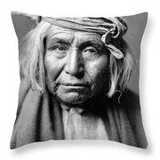 Apache Man, C1906 Throw Pillow