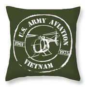 Army Aviation Vietnam Throw Pillow