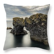 Arnarstapi Snaefellsnes Throw Pillow