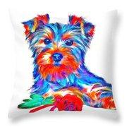 Art Dogportrait Throw Pillow