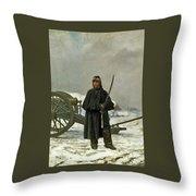 Artilleur De Faction Throw Pillow