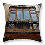 Artistic Architecture In Palma Majorca Spain Throw Pillow