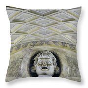Artistic Ceilings Within The Vatican Museums In The Vatican City Throw Pillow