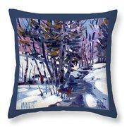 Aspen In The Snow Throw Pillow