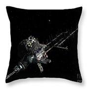 Asteroid Mining Outpost Throw Pillow