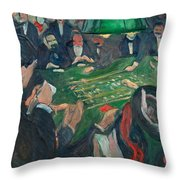 At The Roulette Table In Monte Carlo Throw Pillow