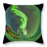 Aurora Borealis Over Churchill Throw Pillow