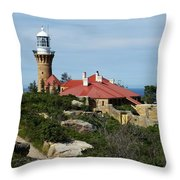 Australia - Path To Barrenjoey Lighthouse Throw Pillow