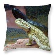 Australia - The Taipan Snake Throw Pillow