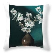 Australian Almond Blossom Throw Pillow