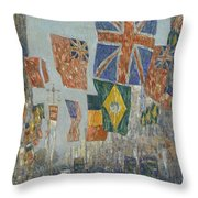 Avenue Of The Allies Throw Pillow