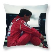 Ayrton Senna. 1992 French Grand Prix Throw Pillow