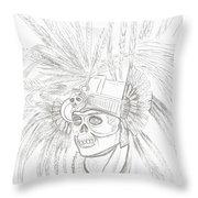 Aztec Warrior Throw Pillow